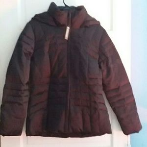 Calvin klein black down filled puffer jacket